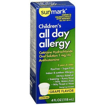 Sunmark Children's All Day Allergy Oral Solution Grape Flavor - 4 oz, Pack of 6