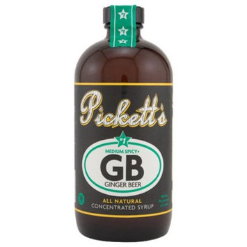 Pickett's #1 Medium Spice Ginger Beer All Natural Concentrated Syrup - 16 oz