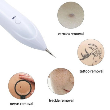 IdentikitGift Mole Remover Deluxe Version-USB Charging 2018 Upgraded Dot Mole Removal Pen Set-Safe Portable Spot Eraser Tool Kit for Face Dark Freckle Age Spot