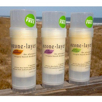 Ozone Layer Deodorant - The All Natural Oxygen Based Deodorant (Top Seller 3-pack)