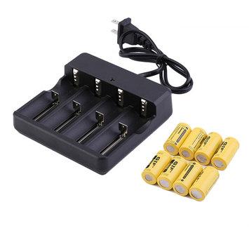 16/20/8 Pcs 3.7V CR123A 16340 2800mAh Yellow GTL Rechar geable lii on Battery~~