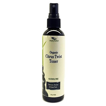 Organic Citrus Facial Toner with Rose Water Witch Hazel & Aloe Vera - Natural Astringent Closes Pores and Preps Skin