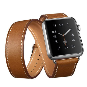 Style Watch Band Strap, Egmy Popular Long Leather Band Double Tour Bracelet Watchband For Apple Watch Series 1/2 38MM