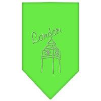 Mirage Pet Products 6744 SMLG London Rhinestone Bandana Lime Green Small