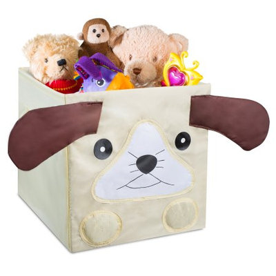 Handy Laundry Kids Foldable Cube Storage Bins - Puppy