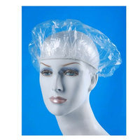 Atb 16 Clear Shower Caps Bath Hat Hair Lady Waterproof Reusable Spa Elastic Salon!
