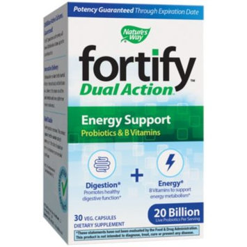 Fortify Dual Action Energy Support Probiotic 20 BILLION (30 Vegetarian Capsules) by Natures Way at the Vitamin Shoppe