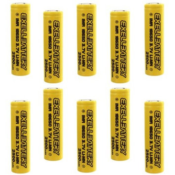 10x IMR 18650 3.7V Vaporizer High Drain 2500mAh 35A Rechargeable Batteries