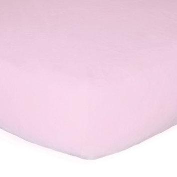 Go Mama Go Minky Crib Sheet Color: Pink