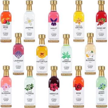 Ultimate Floral Cocktail & Soda Syrup Set - 14 -2 oz Glass Bottles - 56 servings!