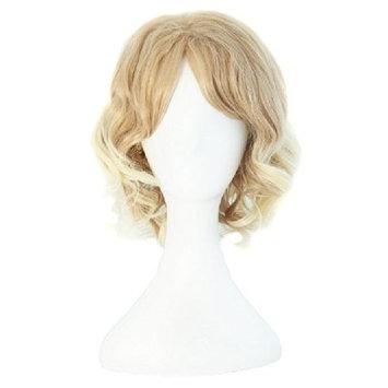 Demarkt Blonde Cos Wig Beautiful Light Blonde Women's Short Curly Wig