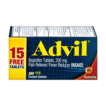Pfizer Advil Pain and Fever Reducer Ibuprofen Tablets - 100ct