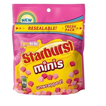 Starburst, Mini Fruit Chews, FaveReds, Unwrapped, 8-Ounce Bag (Pack of 4) by Starburst