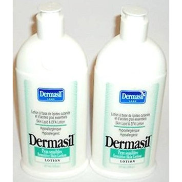 Dermasil Labs Pharmaceutical Research Sensitive Skin Treatment Lotion 14.5 oz(Pack of 2)