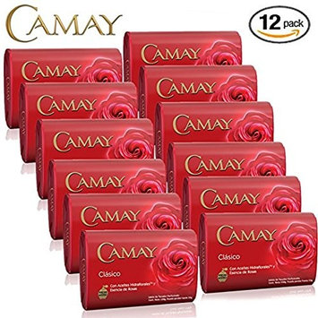 Camay Classico Bar Soap (24-Pack, 4.0oz / 113g each Bar, Camay Romantic Red with Natural Moisturizer)