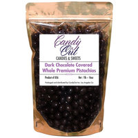 CandyOut Premium Dark Chocolate Covered Pistachios 1 Pound [Chocolate Pistachios]