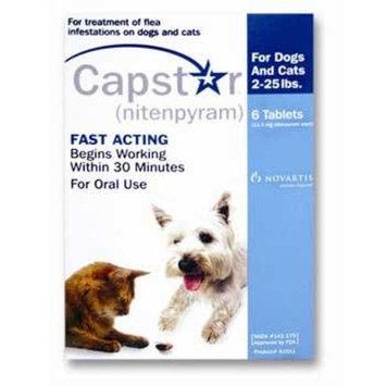 Novartis Capstar Flea Treatment - Blue - 2-25 lb - 6 count
