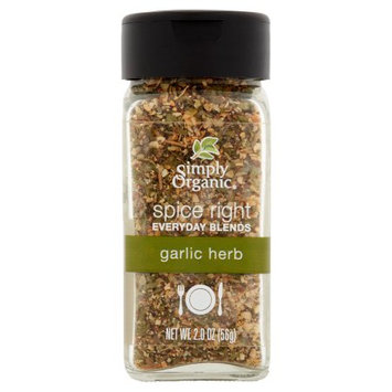 Frontier Co-op Simply Organic, Spice Right Garlic;Herb, 2 Oz (Pack Of 6)