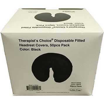 Therapist's Choice® Disposable Fitted Face Rest Covers, Color Black (50 pcs per box)