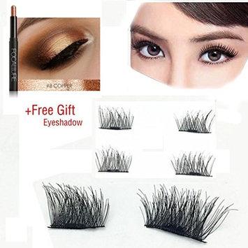 Magnetic EyeLashes,ZYooh 0.2mm Ultra-thin Reusable 3D False Magnetic Eyelashes Extension for Makeup