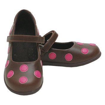 L'Amour Brown Pink Polka Dot Mary Jane Shoes Toddler 5-Little Girls 2