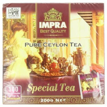 Impra Pure Ceylon Special Tea , 100-Count Tea Bags (Pack of 6)