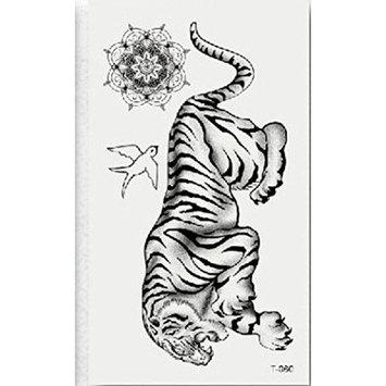 CYCTECH Tattoo sticker, Temporary Non-toxic Tattoo Stickers Body Art Waterproof Tiger