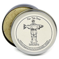 Fish Tale Soap-100% Natural & Hand Made. Scented with Essential Oils. Convenient Travel Gift Tin. Great For Outdoors Fishing Fans.