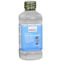 Walgreens Pediatric Oral Electrolyte Solution with Zinc Unflavored - 33.8 oz.