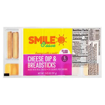 Smile & Save Cheese Dip With Breadsticks - 0.68 oz.