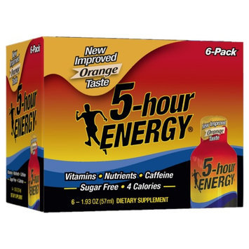 5 Hour Energy 5-Hour Energy Dietary Supplement Shot 6 Pack Orange