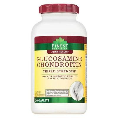 Finest Nutrition Glucosamine Chondroitin Caplets Triple Strength - 240 ea