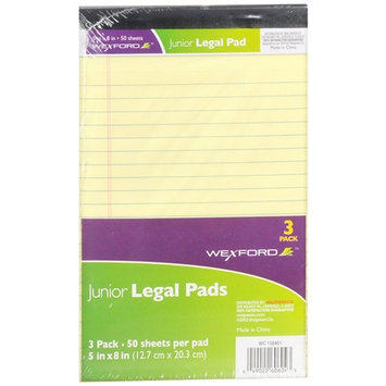 Wexford Junior Legal Pads - 3 ea - School Supplies