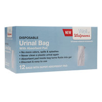 Walgreens Disposable Urinal Bag with Absorbent Pad for Men - 12 ea