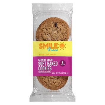 Smile & Save Soft Baked Cookies Oatmeal Raisin, Oatmeal Raisin - 7.1 oz.