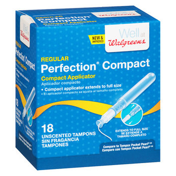 Walgreens Perfection Compact Applicator Tampons Regular - 18 ea