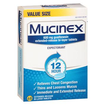 Reckitt Benckiser MUCINEX - Extended Release Tablets (600 Mg Guaifenesin) 68 Ct
