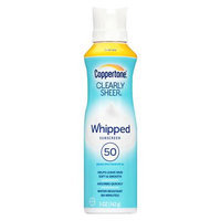 Coppertone Clearly Sheer Whipped Sunscreen Spf 50 5 oz