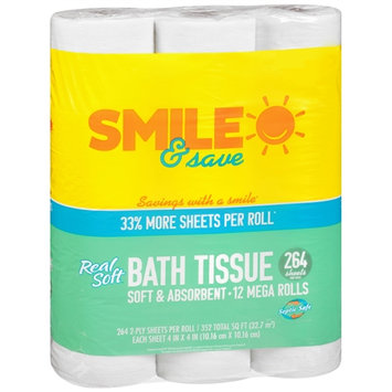 Smile & Save Real Soft Bath Tissue - 264 sh