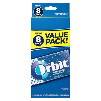 Orbit Peppermint Sugar Free Gum, 14 pc, 8 count