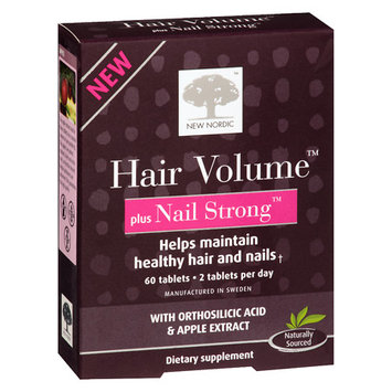New Nordic Hair Volume Plus Nail Strong Supplement - 60 ea