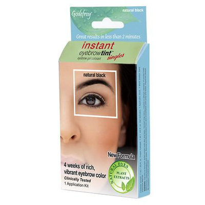 Innovative Beauty Products, L.l.c. Innovative Beauty Products 1402 Instant Eyebrow Tint Botanicals Singles - Natural Black