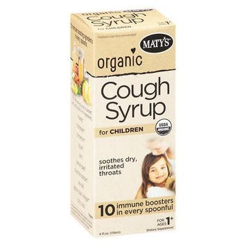 Maty's Organic Cough Syrup For Children - 4 oz.