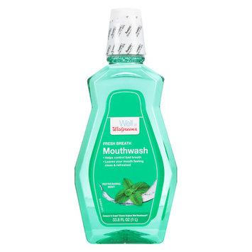 Walgreens Antiseptic Mouthwash Refreshing Mint, Refreshing Mint - 33.8 oz.