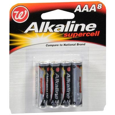 Walgreens Alkaline Supercell Batteries AAA - 8 ea