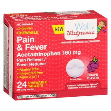 Walgreens Pain & Fever Dissolving Tablets Grape - 24 ea