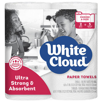 White Cloud Ultra Strong & Absorbent Paper Towels - 158 sh