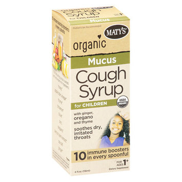 Maty's Organic Mucus Cough Syrup For Children - 4 oz.