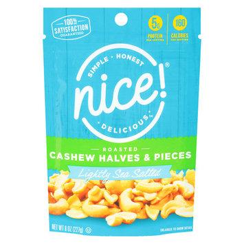 N'ice Nice! Cashews Halves & Pieces Roasted with Light Salt - 8 oz.