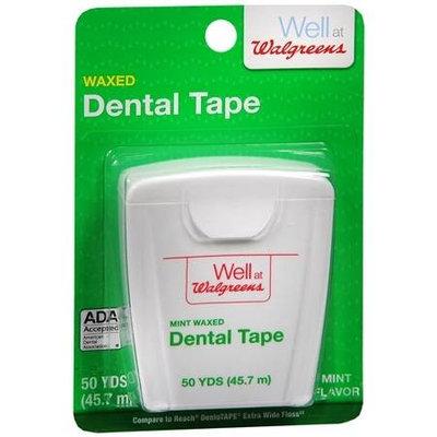 Walgreens Dental Tape, Waxed, Mint, 50 yd